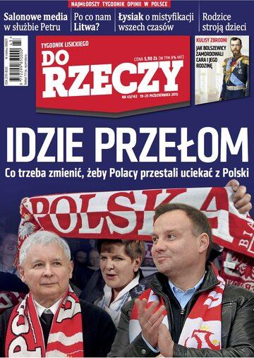 """Okładka tygodnika """"Do Rzeczy"""", wydanie nr 43/2015 (142)"""
