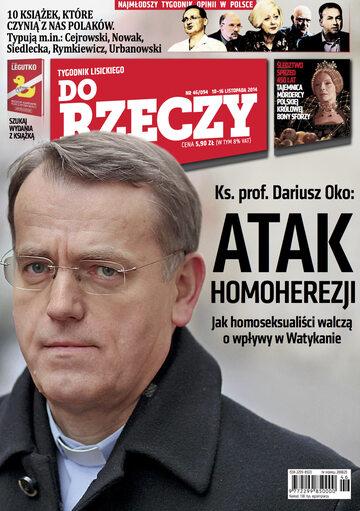 """Okładka tygodnika """"Do Rzeczy"""", wydanie nr 46/2014 (94)"""