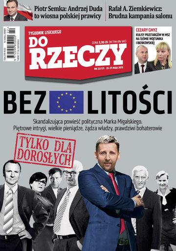 """Okładka tygodnika """"Do Rzeczy"""", wydanie nr 22/2015 (121)"""