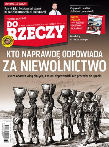 """Okładka tygodnika """"Do Rzeczy"""", wydanie nr 36/2020 (389)"""