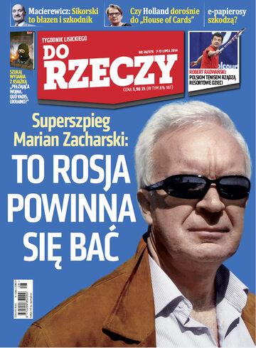 """Okładka tygodnika """"Do Rzeczy"""", wydanie nr 28/2014 (76)"""