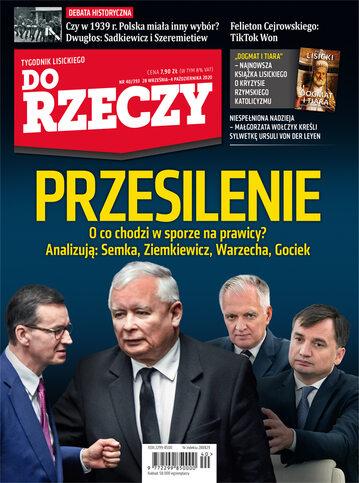 """Okładka tygodnika """"Do Rzeczy"""", wydanie nr 40/2020 (393)"""