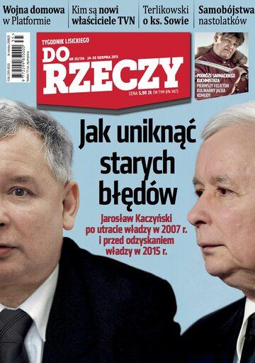 """Okładka tygodnika """"Do Rzeczy"""", wydanie nr 35/2015 (134)"""