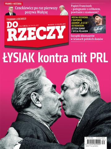 """Okładka tygodnika """"Do Rzeczy"""", wydanie nr 30/2019 (332)"""