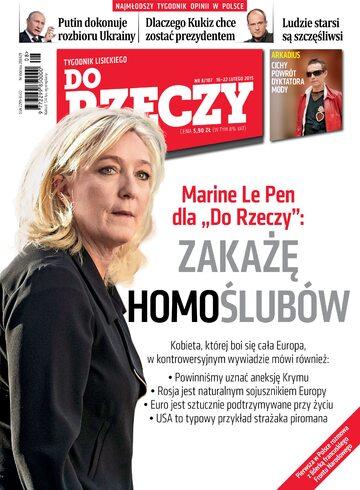 """Okładka tygodnika """"Do Rzeczy"""", wydanie nr 8/2015 (107)"""