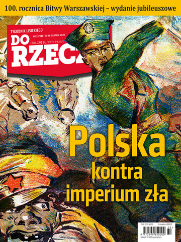 """Okładka tygodnika """"Do Rzeczy"""", wydanie nr 33/2020 (386)"""