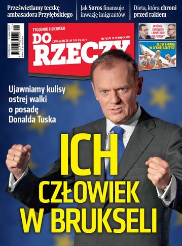 """Okładka tygodnika """"Do Rzeczy"""", wydanie nr 11/2017 (213)"""