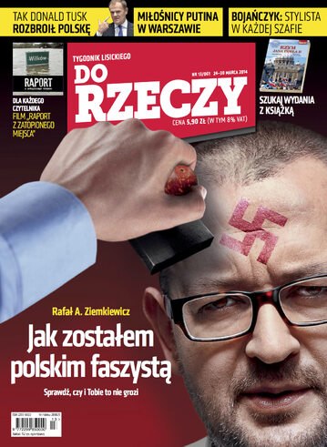 """Okładka tygodnika """"Do Rzeczy"""", wydanie nr 13/2014 (61)"""