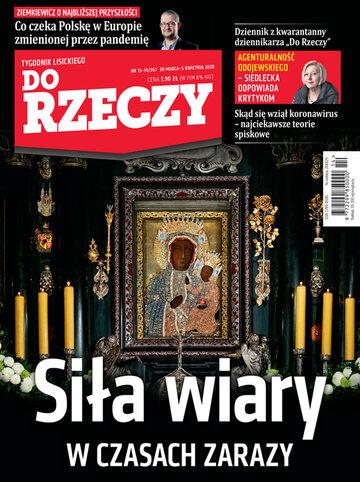 """Okładka tygodnika """"Do Rzeczy"""", wydanie nr 13-14/2020 (367)"""