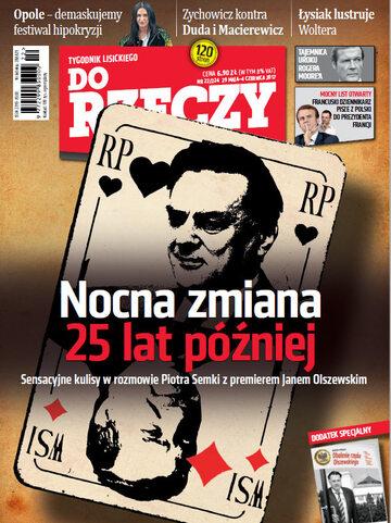 """Okładka tygodnika """"Do Rzeczy"""", wydanie nr 22/2017 (224)"""