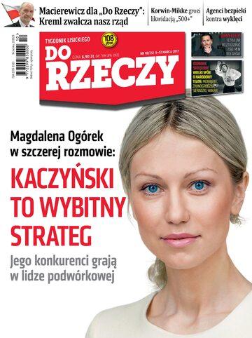 """Okładka tygodnika """"Do Rzeczy"""", wydanie nr 10/2017 (212)"""