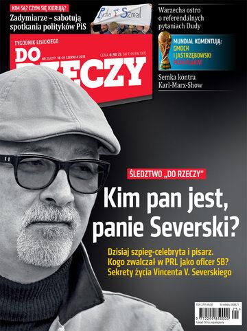 """Okładka tygodnika """"Do Rzeczy"""", wydanie nr 25/2018 (277)"""