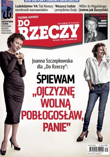 """Okładka tygodnika """"Do Rzeczy"""", wydanie nr 31/2015 (130)"""