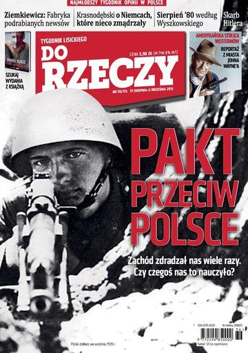 """Okładka tygodnika """"Do Rzeczy"""", wydanie nr 36/2015 (135)"""