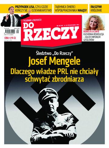 """Okładka tygodnika """"Do Rzeczy"""", wydanie nr 38/2013 (38)"""