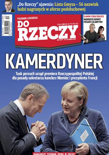 """Okładka tygodnika """"Do Rzeczy"""", wydanie nr 12/2015 (111)"""