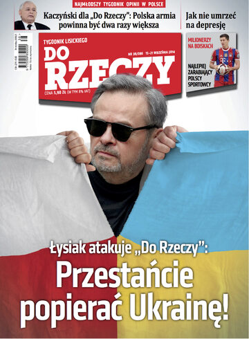"""Okładka tygodnika """"Do Rzeczy"""", wydanie nr 38/2014 (86)"""