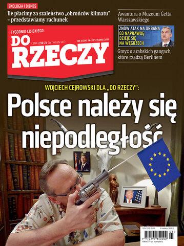 """Okładka tygodnika """"Do Rzeczy"""", wydanie nr 3/2019 (306)"""