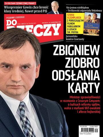"""Okładka tygodnika """"Do Rzeczy"""", wydanie nr 39/2019 (341)"""