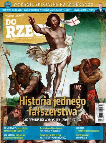 """Okładka tygodnika """"Do Rzeczy"""", wydanie nr 15/2020 (368)"""