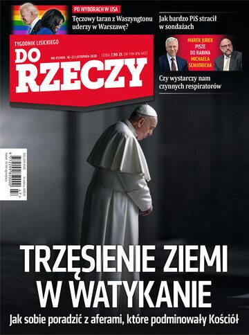 """Okładka tygodnika """"Do Rzeczy"""", wydanie nr 47/2020 (400)"""