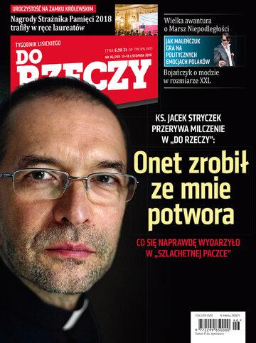 """Okładka tygodnika """"Do Rzeczy"""", wydanie nr 46/2018 (298)"""