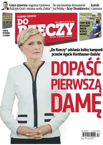 """Okładka tygodnika """"Do Rzeczy"""", wydanie nr 17/2016 (168)"""