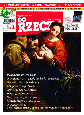 """Okładka tygodnika """"Do Rzeczy"""", wydanie nr 47-48/2013 (47)"""