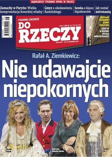 """Okładka tygodnika """"Do Rzeczy"""", wydanie nr 48/2015 (147)"""