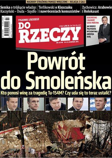 """Okładka tygodnika """"Do Rzeczy"""", wydanie nr 47/2015 (146)"""