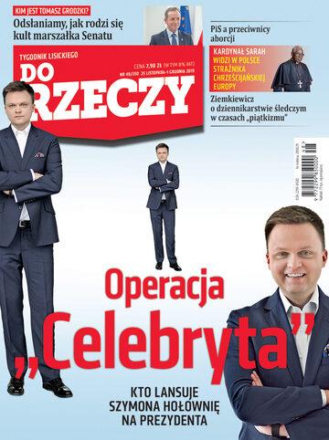 """Okładka tygodnika """"Do Rzeczy"""", wydanie nr 48/2019 (350)"""