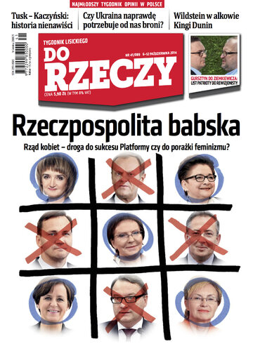 """Okładka tygodnika """"Do Rzeczy"""", wydanie nr 41/2014 (89)"""
