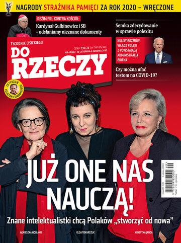 """Okładka tygodnika """"Do Rzeczy"""", wydanie nr 49/2020 (402)"""