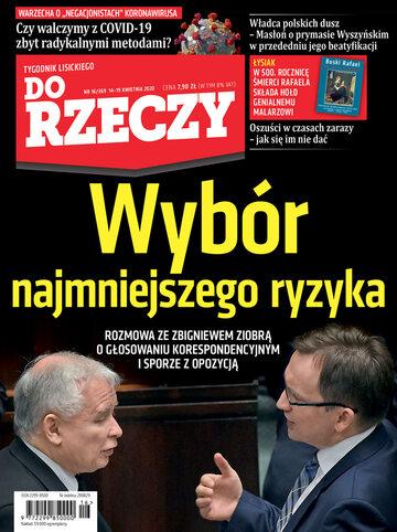 """Okładka tygodnika """"Do Rzeczy"""", wydanie nr 16/2020 (369)"""