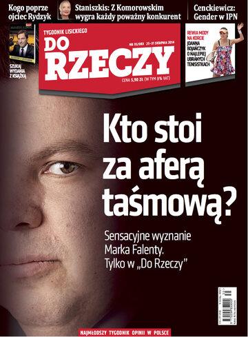 """Okładka tygodnika """"Do Rzeczy"""", wydanie nr 35/2014 (83)"""