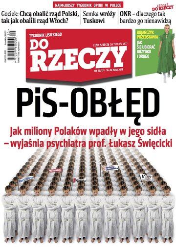 """Okładka tygodnika """"Do Rzeczy"""", wydanie nr 20/2016 (171)"""