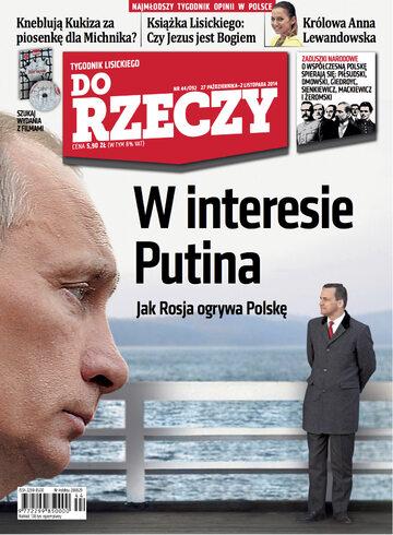 """Okładka tygodnika """"Do Rzeczy"""", wydanie nr 44/2014 (92)"""