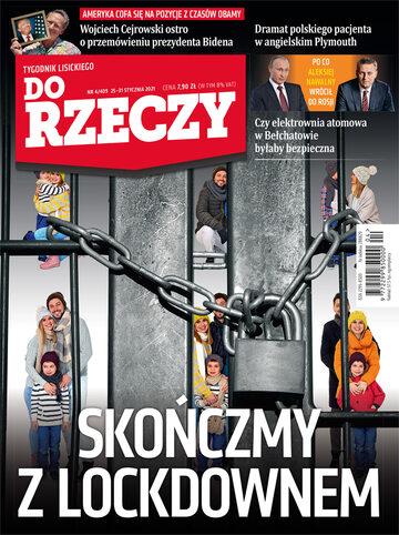 """Okładka tygodnika """"Do Rzeczy"""", wydanie nr 4/2021 (409)"""