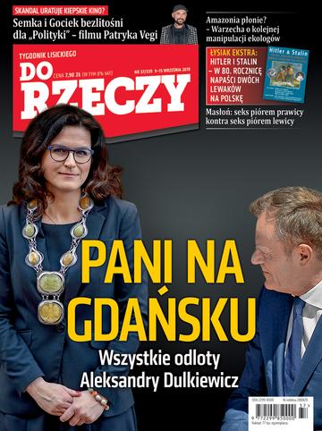 """Okładka tygodnika """"Do Rzeczy"""", wydanie nr 37/2019 (339)"""
