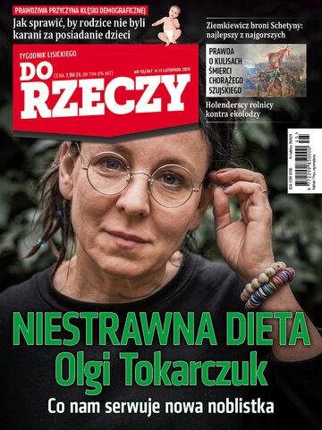"""Okładka tygodnika """"Do Rzeczy"""", wydanie nr 45/2019 (347)"""