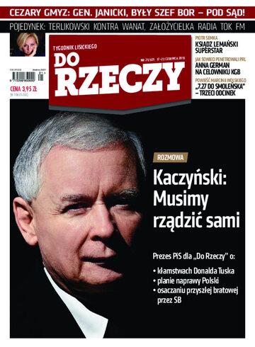 """Okładka tygodnika """"Do Rzeczy"""", wydanie nr 21/2013 (21)"""