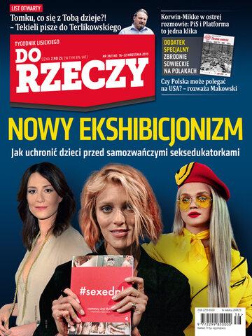 """Okładka tygodnika """"Do Rzeczy"""", wydanie nr 38/2019 (340)"""
