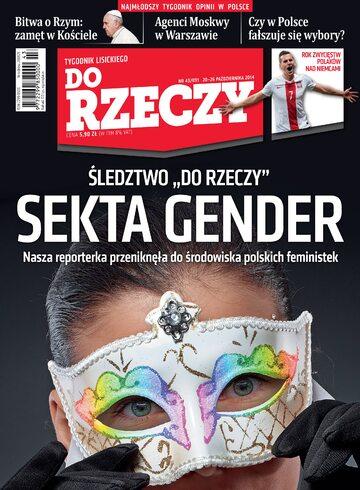 """Okładka tygodnika """"Do Rzeczy"""", wydanie nr 43/2014 (91)"""