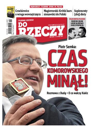 """Okładka tygodnika """"Do Rzeczy"""", wydanie nr 19/2015 (118)"""