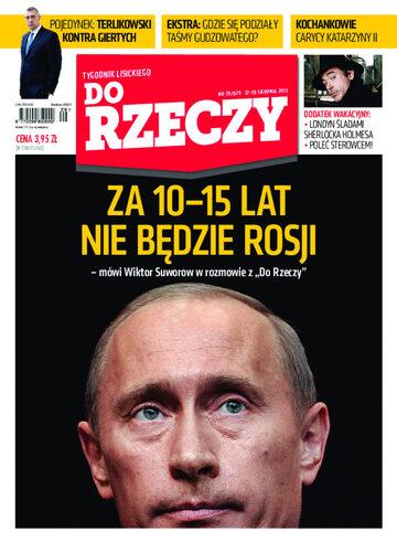 """Okładka tygodnika """"Do Rzeczy"""", wydanie nr 29/2013 (29)"""