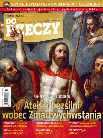 """Okładka tygodnika """"Do Rzeczy"""", wydanie nr 13/2021 (418)"""