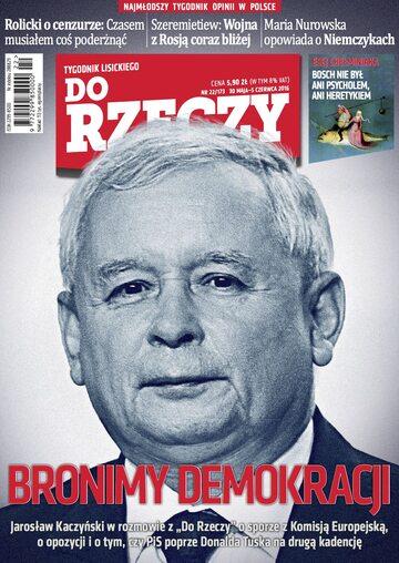 """Okładka tygodnika """"Do Rzeczy"""", wydanie nr 22/2016 (173)"""