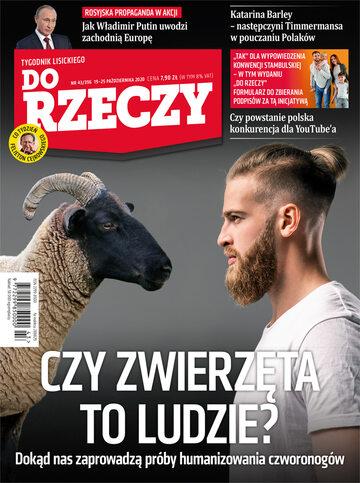 """Okładka tygodnika """"Do Rzeczy"""", wydanie nr 43/2020 (396)"""
