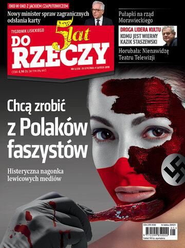 """Okładka tygodnika """"Do Rzeczy"""", wydanie nr 5/2018 (258)"""