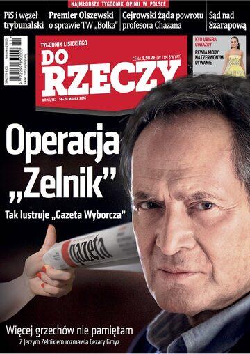 """Okładka tygodnika """"Do Rzeczy"""", wydanie nr 11/2016 (162)"""